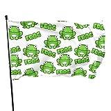 fingww Fahne Frösche Verschiedene Frühlingsgarten Flagge Holiday Yard Banner House Klassischer Standard Ziemlich Lebendig 90X150Cm Im Freien Bunte Jahreszeit Willkommen