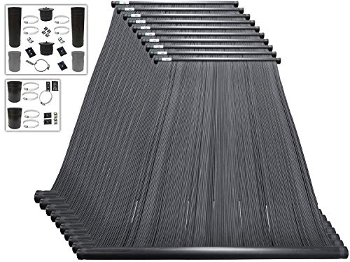 SOLARPOOLSUPPLY Highest Performing Design - DIY Solar Pool Heater System Kit - 15-20 Year Life Expectancy - Made in USA [10-4x12 / 2' I.D. Header]