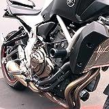 Shogun Yamaha FZ-07 FZ07 2015 2016 2017 MT-07 MT07 2018 2019 2020 2021 XSR700 2018 2019 2020 2021 Black No Cut Frame Sliders Fits ABS & NON ABS Models - 750-6419 - MADE IN THE USA