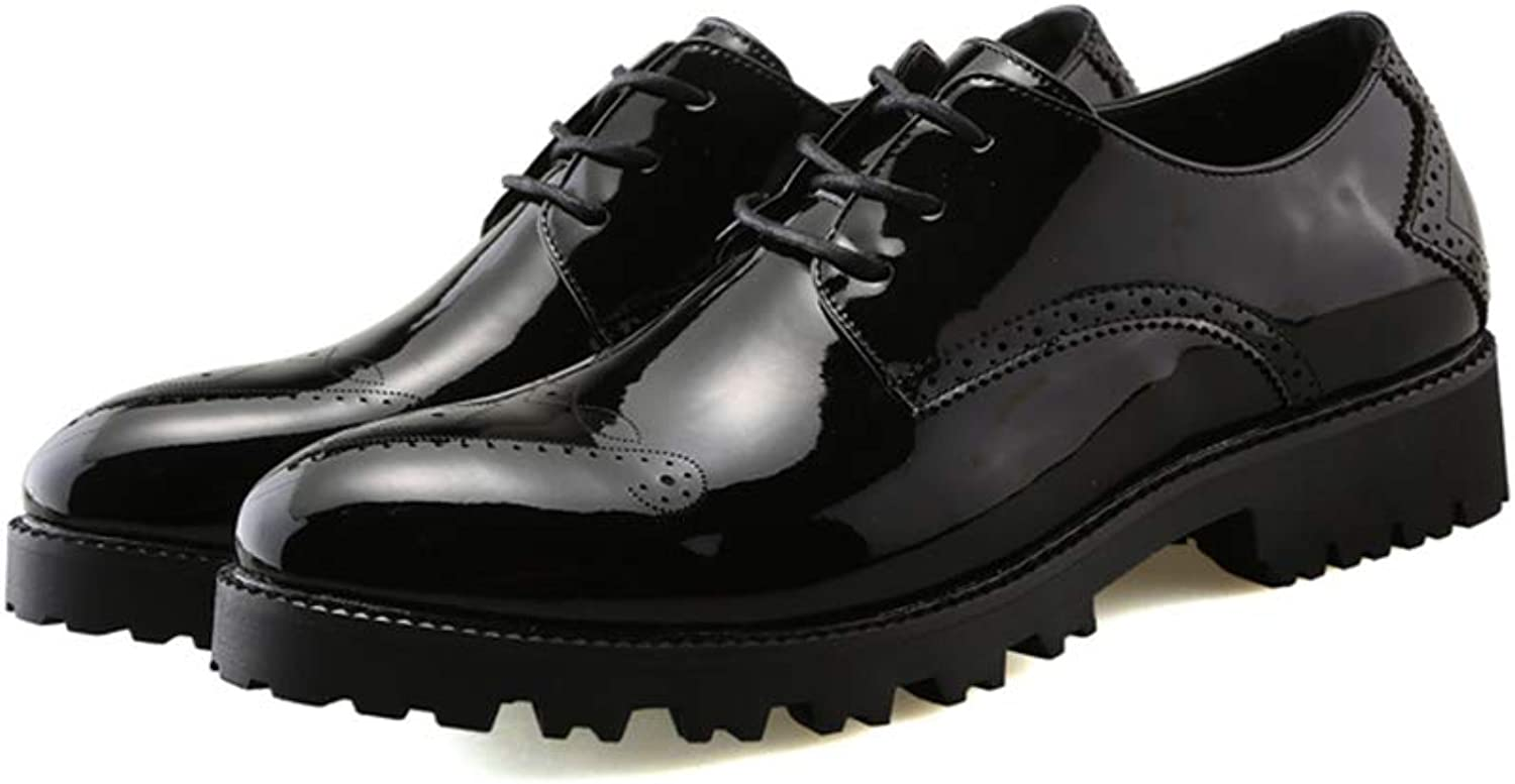 Digg Dog Bone Män's Business Oxford Casual Casual Casual Anti -Skid Tjock Patent läder Formal skor  100% passform garanti