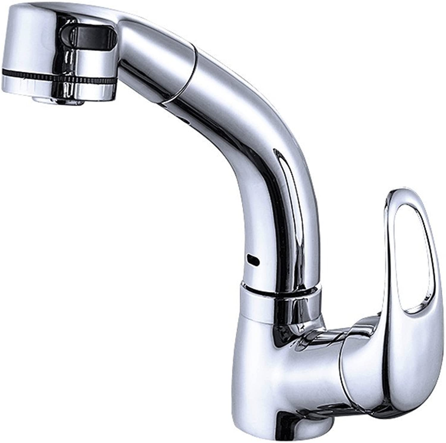 Hlluya Professional Sink Mixer Tap Kitchen Faucet The copper basin and cold water faucet retractable Pull lift swivel head wash basin wash-hand basin 848