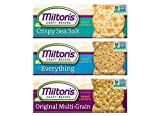 Milton's Gourmet Crackers. Crispy Sea Salt, Multi-Grain, and Everything Bundle Non-GMO Baked Crackers. 3 Flavor Variety Bundle, 8.4 Ounces. Packaging May Vary.