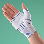 FEATURES: Universal Design. Compression and Support. Covers wrist and palm area. Helps relieve swelling. Provides compression and support on wrist and palm. This palm brace is still very effective and is among the most popular products we sell from t...