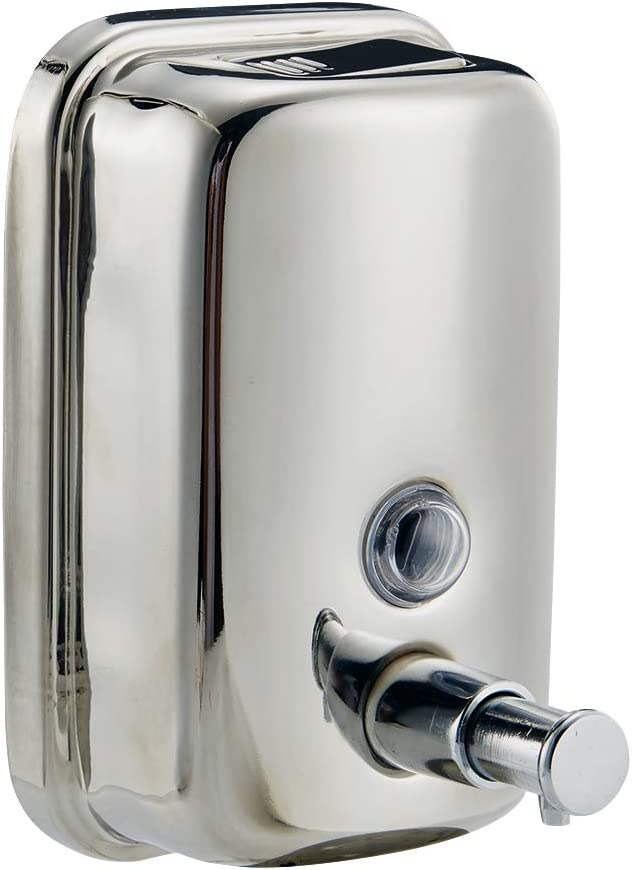 HSZ Wall Mount Manual Soap Dispenser Proof Rust Philadelphia Mall Steel Max 61% OFF Stainless