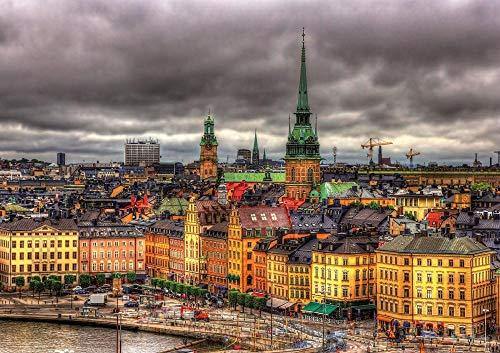 Zweden Stockholm Jigsaw Puzzle Adult 1000 puzzel, familiepuzzel, houten puzzel, educatief spel, intellectuele uitdagingspuzzel, uitdagingsspel