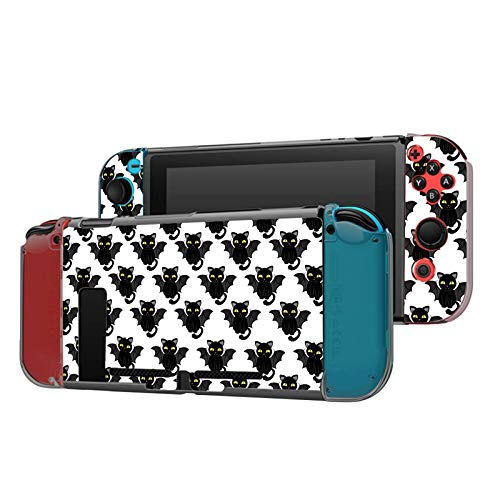 Dockable Case Compatible with Nintendo Switch Console and Joy-Con Controller, Patterned ( Funny Cats...