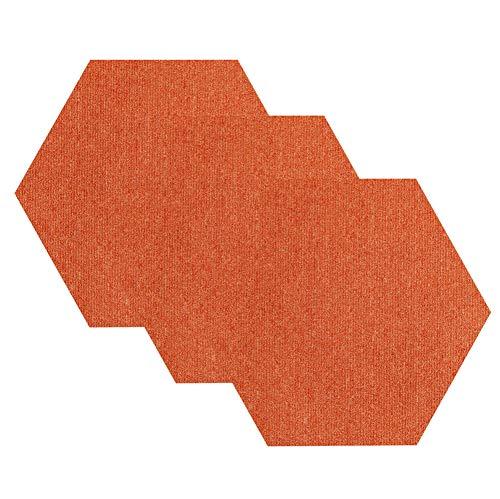 JLCP Hexagon Teppichfliesen, Farbe Selbstklebend Fußmatten PVC-Boden rutschfeste Und Schallabsorbierende Teppiche Bodenbelag Fliese Für Zuhause/Büro/Hotel,Seitenlänge 25Cm,1,1pcs