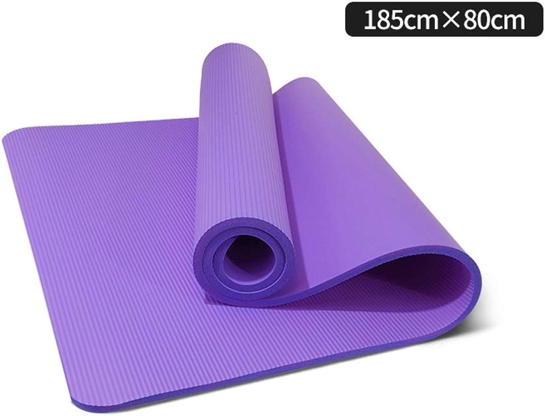 ASJHK Die Rutschfeste weibliche mnnliche Anfngerverdickung der Yogamatte verbreiterte Lange Eignungstanzyogamattenmatten nach Hause Yogamatte (Farbe   lila, gre   15mm)