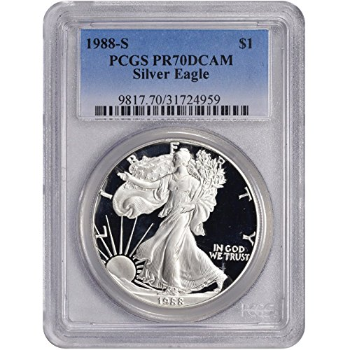 1988 S American Silver Eagle $1 PR-70 PCGS