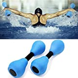 Aquatic Exercise Dumbells Set of 2, Pool Resistance Water Barbells Water Aerobic Exercise Foam Dumbbell Water Aqua EVA Fitness Barbells Hand Bar Exercises Equipment
