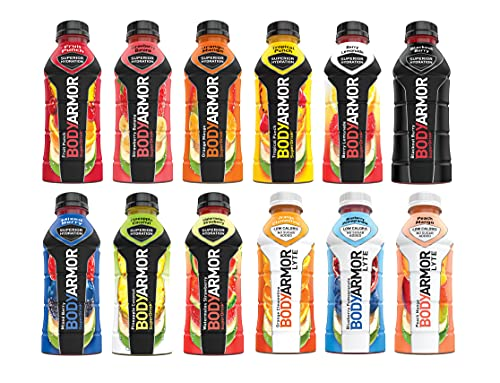 Bodyarmor Superdrink 12 Flavor Variety Pack 16 Ounce Bottles (Pack of 24)
