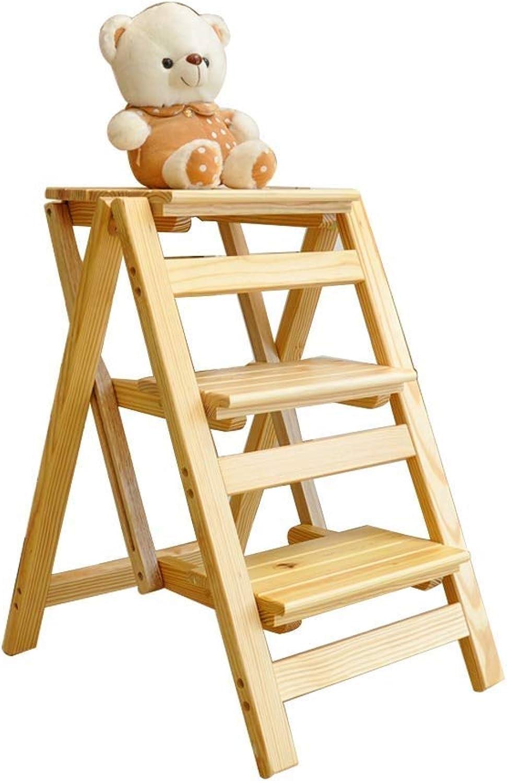 3 Steps Ladder Bench, Portable Climbing Ladder, Foldable Step Stool, Indoor Outdoor Flower Stand Plant Frame Garden, Bearing Weight 130Kg (42cm × 56cm × 66cm)
