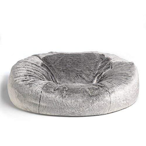 Icon Kenai Kunstfell Sitzsack - 160cm x 140cm - Luxuriöser, Riesiger Sofa-Sitzsack / 2-Sitzer/Love Seat aus Weichem Kunstpelz
