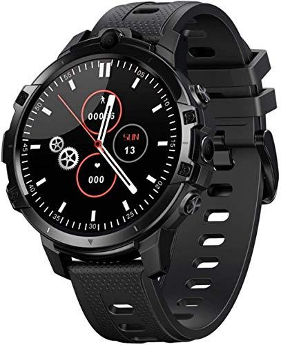 Fitness Smart Watch 1.6 pulgadas IPS pantalla táctil completa 4+64 GB memoria 5MP+5MP cámaras 830Mah batería desbloqueo pulsera azul-negro