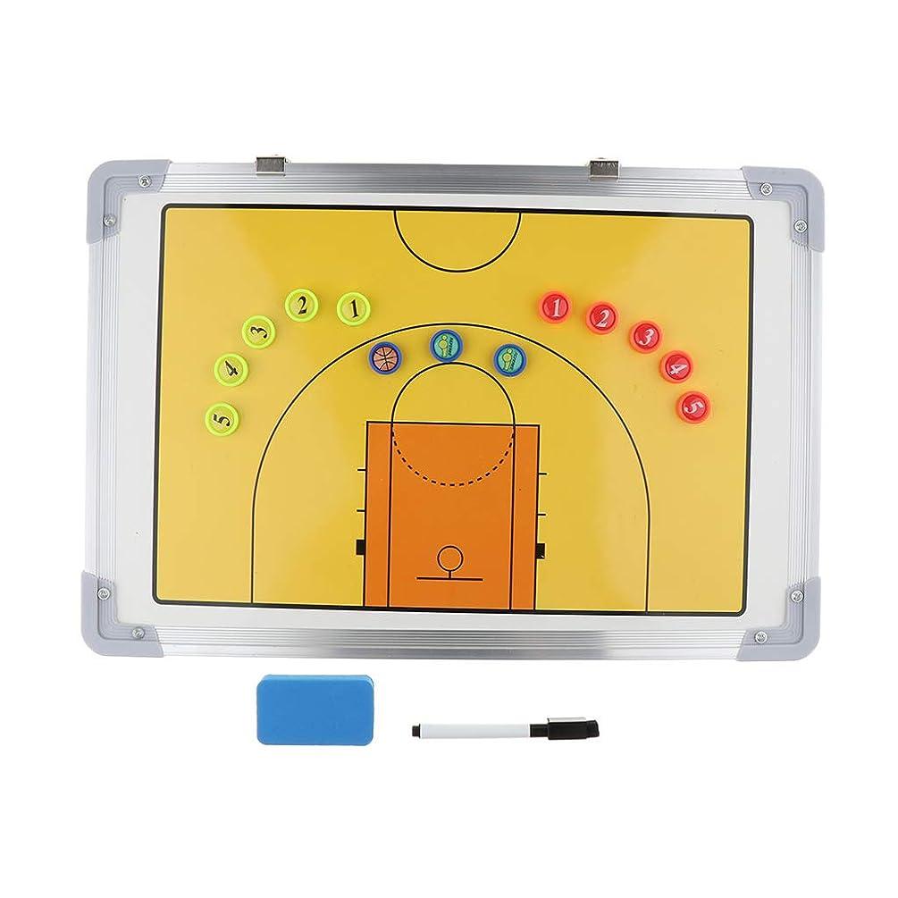 間に合わせ賞賛航空会社Fenteer バスケットボール 作戦盤 タクティクスボード コーチングボード 戦略 指導 アルミ マグネット ペン