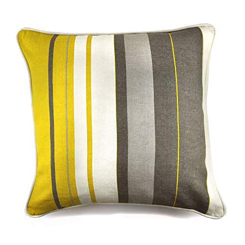 Fusion - Whitworth Stripe - 100% Cotton Cushion Cover - 43x43cm (17x17') in Ochre