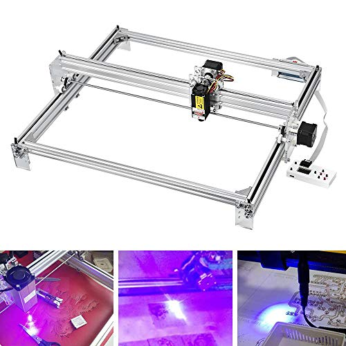 ETE ETMATE Laser Engraver Engraving Machine 7W 65x50cm,CNC Router Wood Carving Engraving Cutting Machine, DIY Printer Logo Picture Marking,2 Axis Desktop Printer for Leather Wood Plastic
