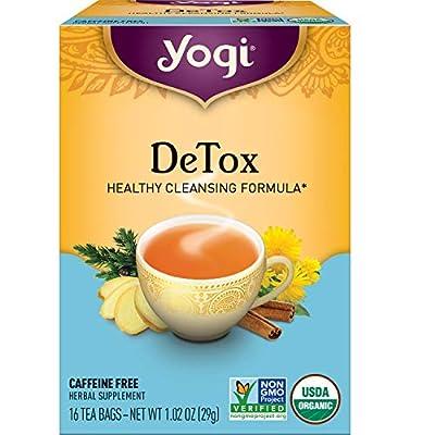 Yogi Tea - DeTox Tea (6 Pack) - Healthy Cleansing Formula With Traditional Ayurvedic Herbs - 96 Tea Bags by Yogi