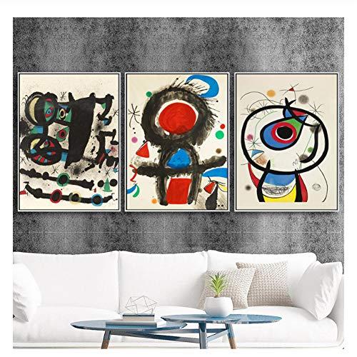 Joan Miro Dibujos Abstractos Decoración para el hogar