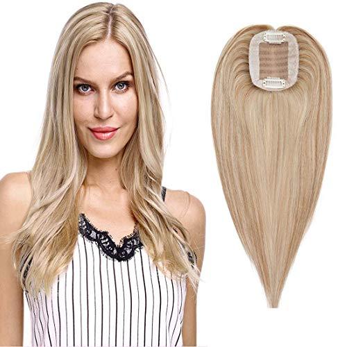 Volumateur Femme Complément Capillaire Topper Extension a Clip Cheveux Humain Naturel Postiche Perruque (10\