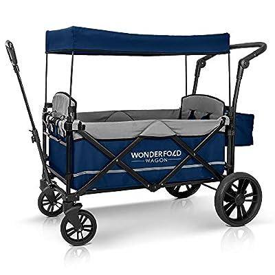 WonderFold Baby X2 carrito de paseo para 2 pasajeros, Marino