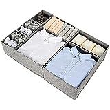 SimpleHome Pure | 7 cajones de almacenamiento de arpillera | exactamente adecuado para la cómoda MALM de 80 cm.
