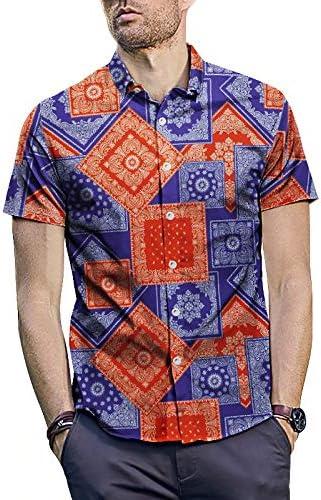 Camisa hawaiana de los hombres Patrón de tela escocesa para ...