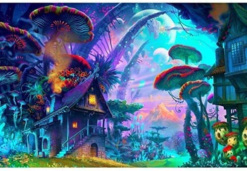 NA Jigsaw Puzzle 1000 Piece Poster Psychedelic Trippy Colorful Ttrippy Surreal Abstract Astral product image