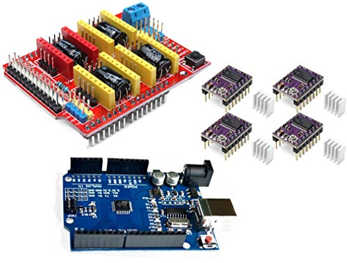 TECNOIOT Pack 3D Printer - Development Board + CNC Shield V3 Expansion Board + 4pcs DRV8825 Stepper Motor Driver