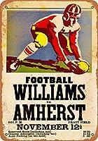 8 x 12 CM メタル サイン - 1938 ウィリアムズ vs. アマースト フットボール メタルプレートブリキ 看板 2枚セットアンティークレトロ
