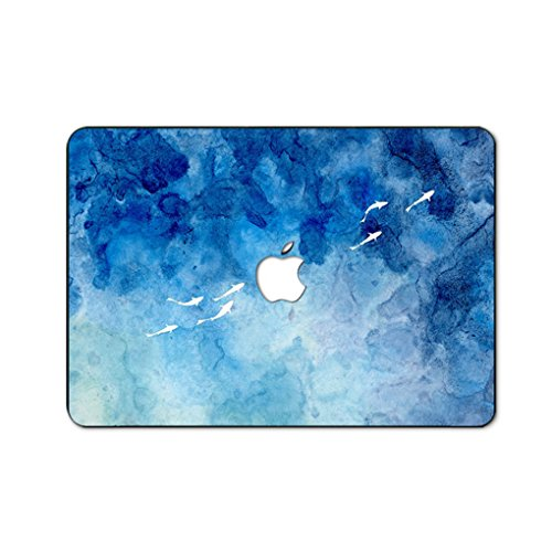 Fit for MacBook Pro 16' with Touch Bar/Touch ID (A2141) Customized Special Design Water Resistant Clip Snap-on Hard Case (Ink painting Dolphin)