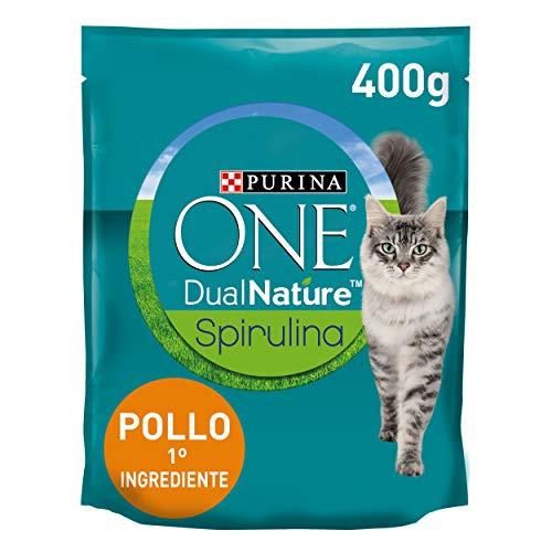 Purina One Dualnature Crocchette Gatto Adult Ricco in Pollo e con Spirulina Naturale - 8 Pezzi