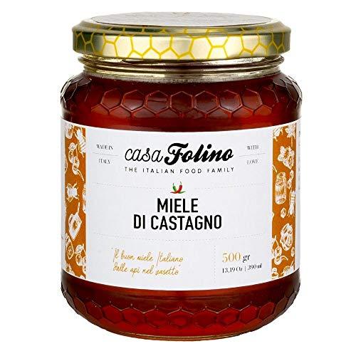 Miel de Castaño Natural Calabrese 500 gr - Casafolino - Deliciosa miel de abeja obtenido de las flores de castaño, ideal para dulces.
