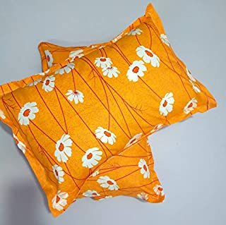 Star Dynamic 100%Cotton Pillow Cover, Size 16X24, Colour Orange