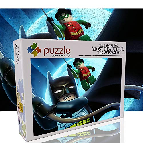 Batman - Rompecabezas de 1000 Piezas para Adultos Lego Juguete de descompresión Rompecabezas de Juguete Juego para Padres e Hijos 1000 Piezas Rompecabezas 27.6'x19.7