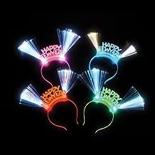 Happy New Year Led Fiber Headband- Box of 12
