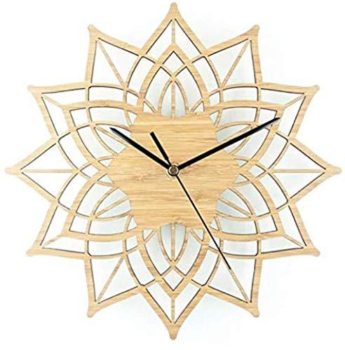 AIOJY Reloj de Pared Natural Log Lotus Modernización de...