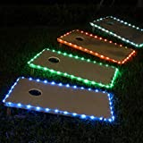 Frienda Cornhole Lights, 16 Colors Change Cornhole Board Edge Night Lights LED with Remote Control for Family Backyard Bean Bag Toss Cornhole Game, 2 Set (4 x 2 ft)