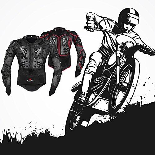 Motorrad Schutz Protektoren Motorradjacke Hemd Brustschutz Fallschutz Schutzjacke M-XXXL - 8