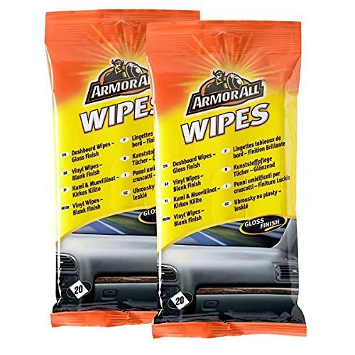 Armorall Lot de 2 paquets de lingettes nettoyantes pour tableau de bord Finition mate 20 lingettes par paquet