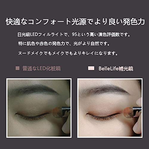 果動BelleLife(ベルライフ)『メイクボックスLEDミラー付き携帯型(H-BL-02)』