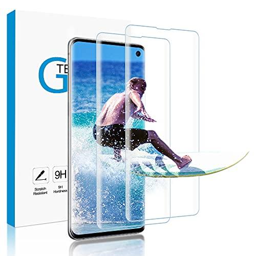 Carantee Panzerglas für Samsung Galaxy S10, 9H Härte, Anti-Kratzen, Anti-Öl, Anti-Bläschen Panzerglasfolie, 3D-gebogenen Volle Bedeckung Schutzfolie für Samsung S10 [2 Stück]