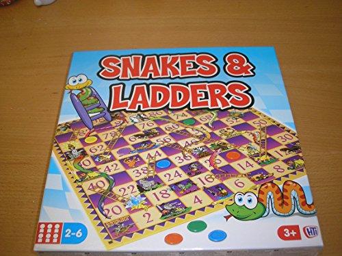 Klassieke traditionele retro spellen bedrukte doos spelen familie leuk Slangen en Ladders