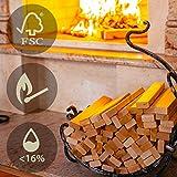 Hansales Madera para Brasero sin Humo 14.5 kg - Leña Secada en Horno - Encendedores ECO Incluidos en el Interior