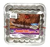 HANDI FOIL Cook n Carry Square Cake Pan with Lid, 3 CT