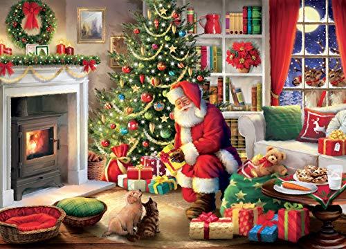 Ceaco Classic Christmas - Santa's Visit Jigsaw Puzzle, 1000 Pieces