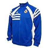 Adidas real madrid Chaqueta Air Force Blue/ White D80311 - ***Es algo más grande, mejor un número pequeño de lo habitual***, European Soccer League, hombre, color - azul, tamaño S