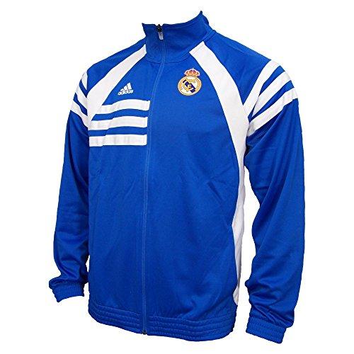 Adidas Real Madrid Jacket Jacke Air Force Blue / White D80311 - ***fällt größer aus, besser eine Nummer kleiner bestellen*** (S)
