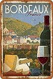 XREE Bordeaux Art Blechschild Vintage Wohnaccessoires