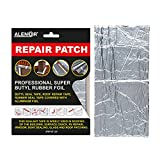 ALENOR Aluminum Butyl All Weather Repair Patch 4'x6' Waterproof Sealing Patch Roof Leak Indoor or Outdoor Pipe Repair HVAC Vent Air Conditioner Window Seal Unit Rain Gutters Flashing Auto & Boats RV